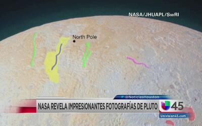 NASA da a conocer imagenes del polo norte en Plutón
