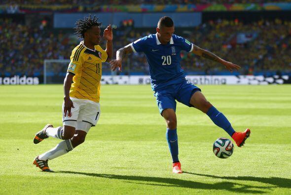 Grecia despertó tras el primer gol y le arrebató la pelota a Colombia pa...