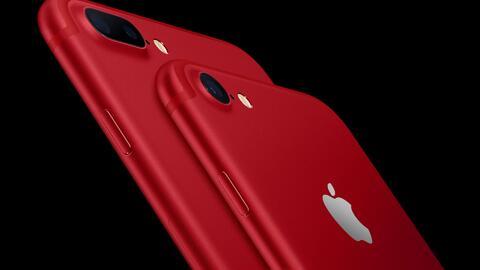 Apple lanza un iPhone 7 y un iPad en color rojo, apoyando la lucha contr...
