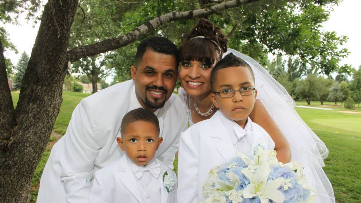 René Lima Marín with his wife and two children. Lima Marín is fighting d...