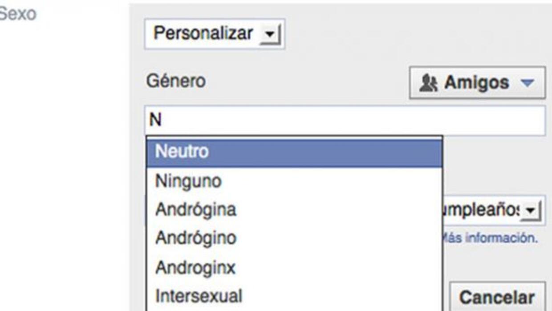 Ahora también se pueden seleccionar más géneros en Facebook en español.