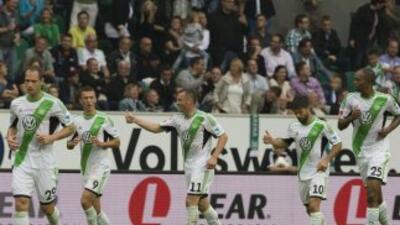 El Wolfburgo venció al Hertha.
