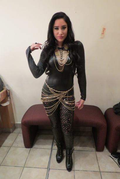Geissie en backstage durante la séptima gala.