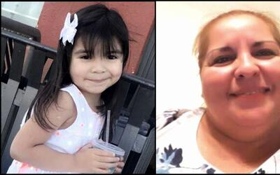 Aleysha Martínez, de 5 años, y su abuela, Luz María...