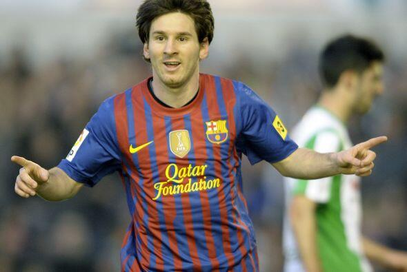 Messi sigue así acumulando récord, entre los que se cuentan ser el autor...