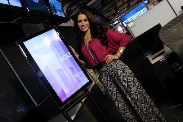 Bárbara Falcón, la representante de Texas en Nuestra Belleza Latina, vis...