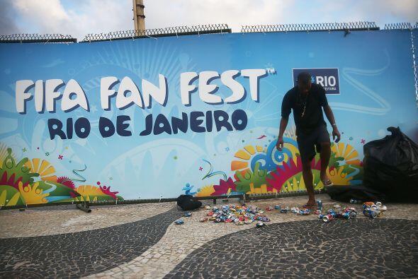 420 toneladas de basura reciclable se levantaron de los estadios e insta...