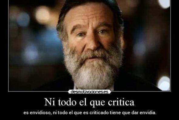Otro mensaje positivo de Robin Williams.   Créditos: Twitter/Instagram