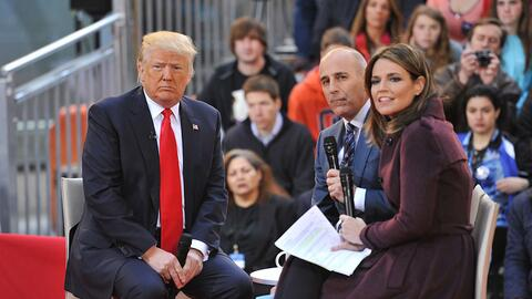 Savannah Guthrie and Matt Lauer interview Donald Trump during NBC's Today
