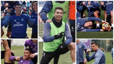 Cristiano es el 'Lord' de los entrenos y las poses del Real Madrid