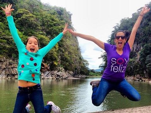 """""""#SaltoMaity con @henainteriano03 frente al rio Jicatuyo #Honduras..."""