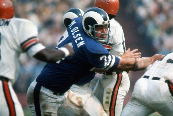 14 apariciones - Merlin Olsen, tackle defensivo (1962-1976).