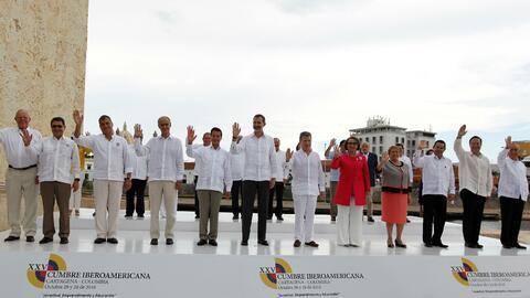 El proceso de paz en Colombia y la crisis venezolana fueron los dos tema...