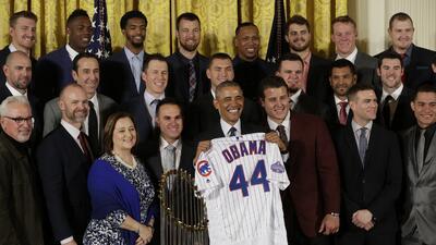 Risas y buen ánimo en la visita de los Cubs a Barack Obama en la Casa Blanca