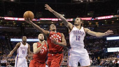 Toronto tuvo que sobreponerse a un déficit de ocho puntos a sólo 6 minutos.