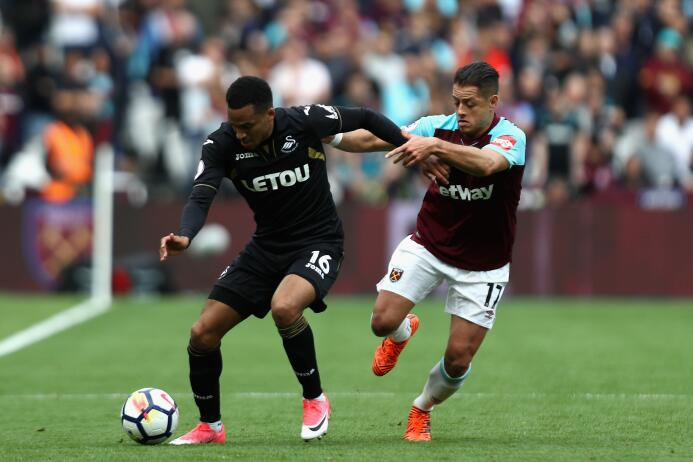 (Premier League) West Ham [1]-0 Swansea: Javier Chicharito Hernández fue...