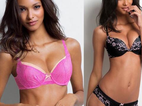 Con encajes y telas satinadas la modelo brasileña nos muest...