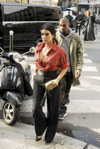 Kim Kardashian Paris Fashion Show
