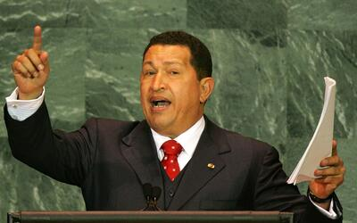 El presidente de Venezuela, Hugo Chávez, durante su discurso ante las Na...