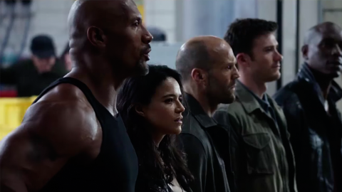 The Fate of the Furious crew debriefing