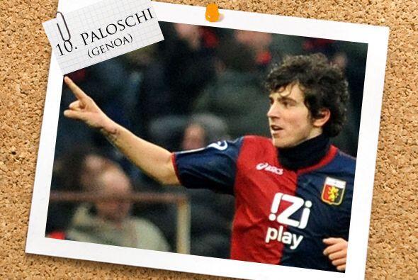 En el centro del ataque esta el italiano Alberto Paloschi del Genoa.