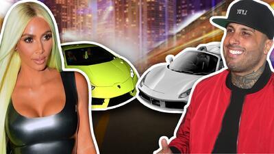Duelo de súper autos entre Kim Kardashian y Nicky Jam en la noche de Miami