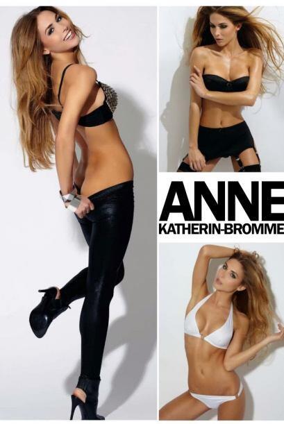 La modelo Ann Kathrin-Brommel es la novia del jugador de la selección al...