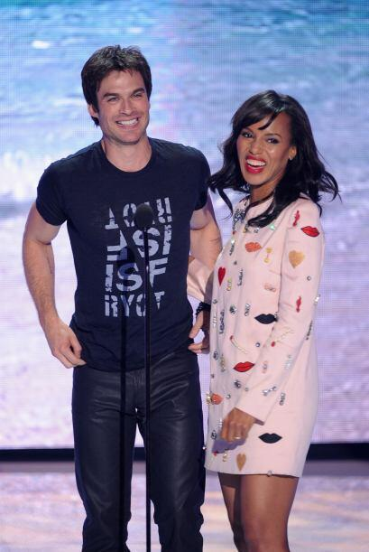 "Ian Somerhalder de ""The Vampire Diaries"" y Kerry Washington de ""Scandal""..."