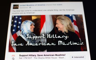Post de facebook rusos en la campaña.