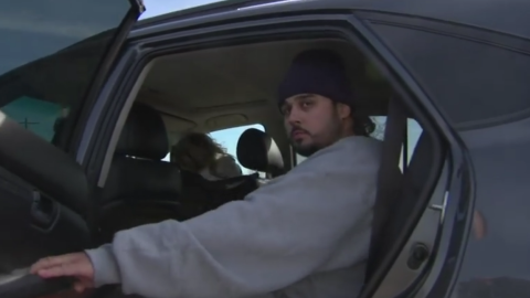 Jaime Hauad, al salir de la cárcel donde permaneció 21 años.