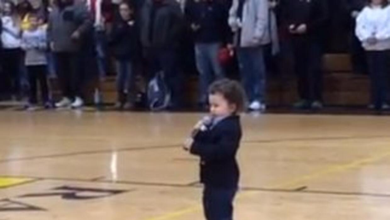 2 Year Old Sings Anthem