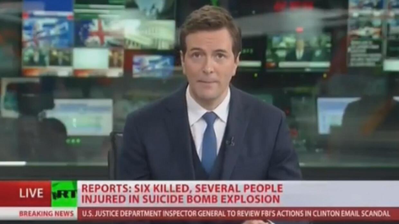 El momento en el que 'Russia Today' tomó la señal del canal público C-Span1