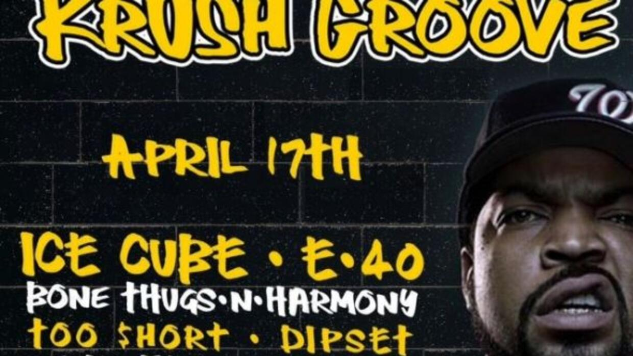 HOT 105.7 and 100.7 FM invites you to KRUSH GROOVE w/ Ice Cube, E-40, Bo...