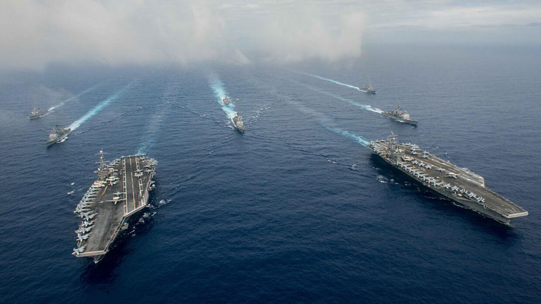 El USS Nimitz y el USS Ronald Reagan (en la foto) realizarán ejercicios...