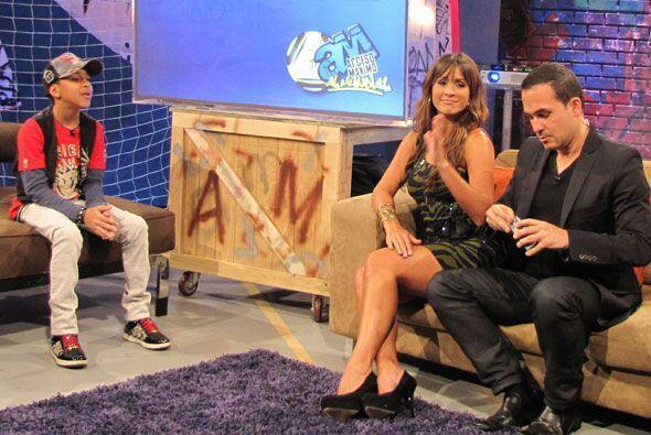 El show estuvo lleno es invitados especiales. Entre ellos Miguelito.