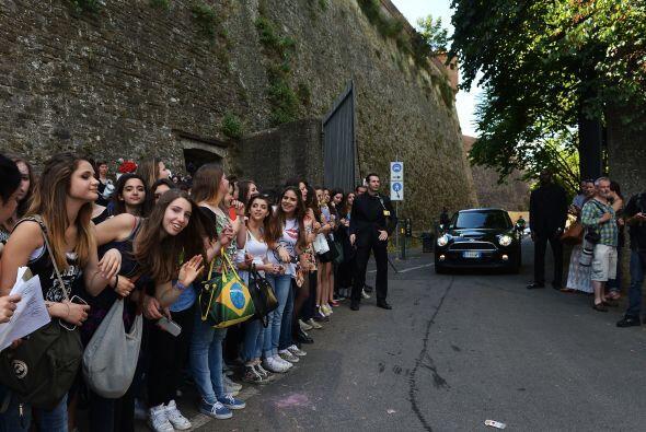 Así lucía a las afueras del Forte di Belvedere en Florencia.