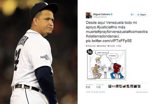 El tercer base de los Detroit Lions de la MLB, Miguel Cabrera, plasmó en...