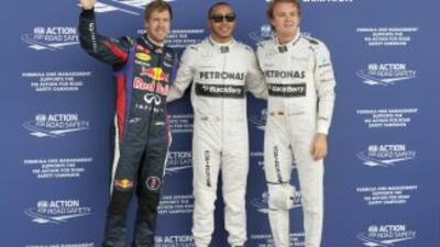 Vetell, Hamilton y Rosberg ocuparán los primeros puestos de la parrilla...