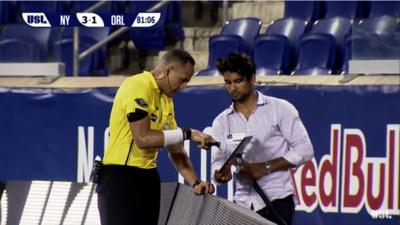 Video-arbitraje se realizó por primera vez en un partido de la USL