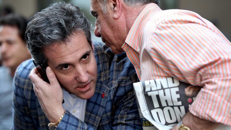 Michael Cohen, abogado personal de Trump, en Nueva York días después del...