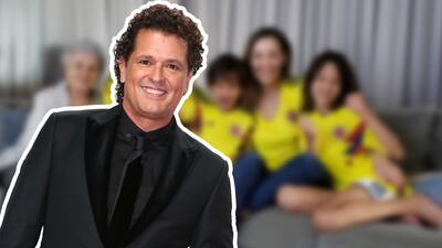 Así Carlos Vives y su familia enloquecieron de alegría con el triunfo de Colombia en el Mundial