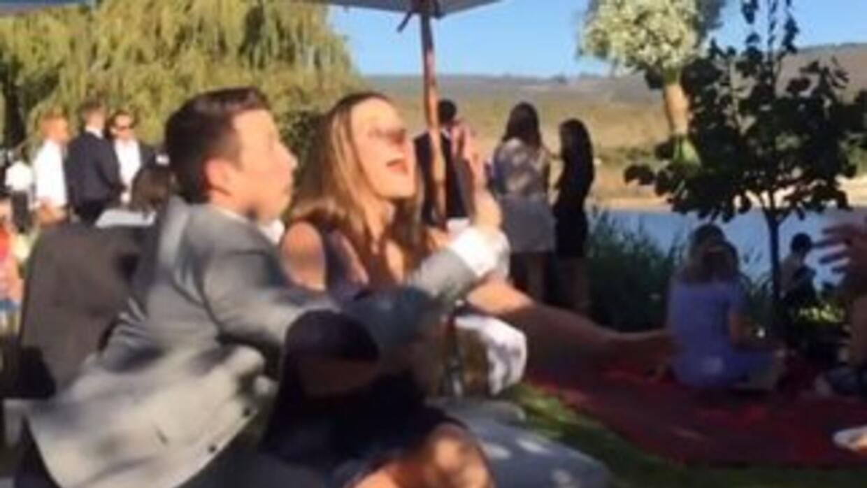 Wedding Guy Scared
