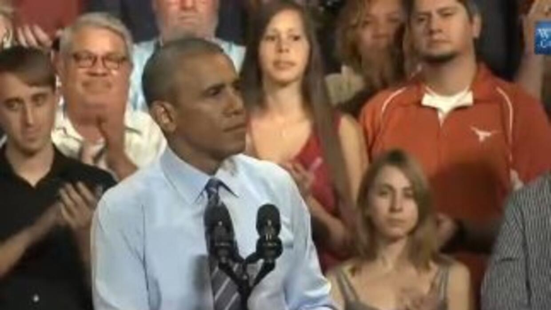 Barack Obama en su discurso en el Paramount Theater