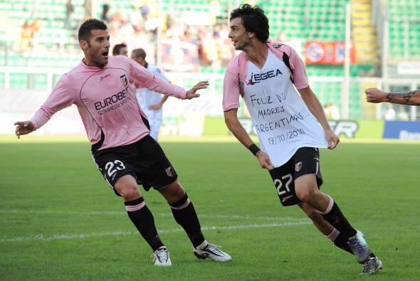 El argentino Javier Pastore y su Palermo no tuvieron piedad del Bolonia.