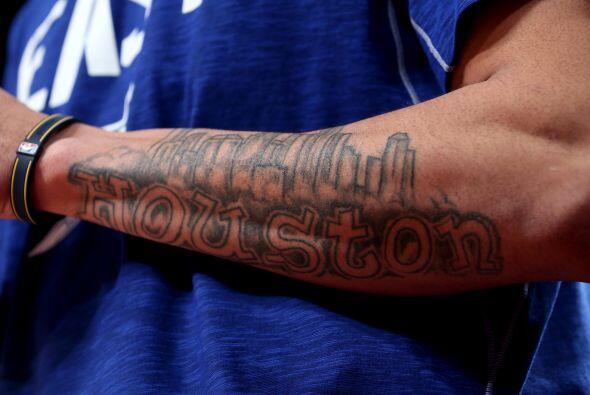 Gerald Green aprovechó la ocasión para mostrar su amor por Houston con e...