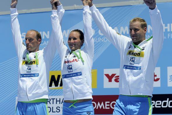 Alemania se llevó el oro en los 5km. por equipos mixto en Aguas A...