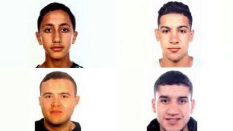 Imagen publicada por las autoridades de los sospechosos de los ataques e...