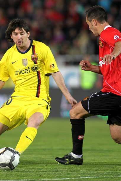 Messi entró en el segundo tiempo, pero no pudo hacer mucho ante un buen...