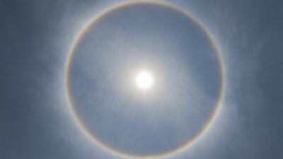 El halo solar que brilló en la cuidad de México