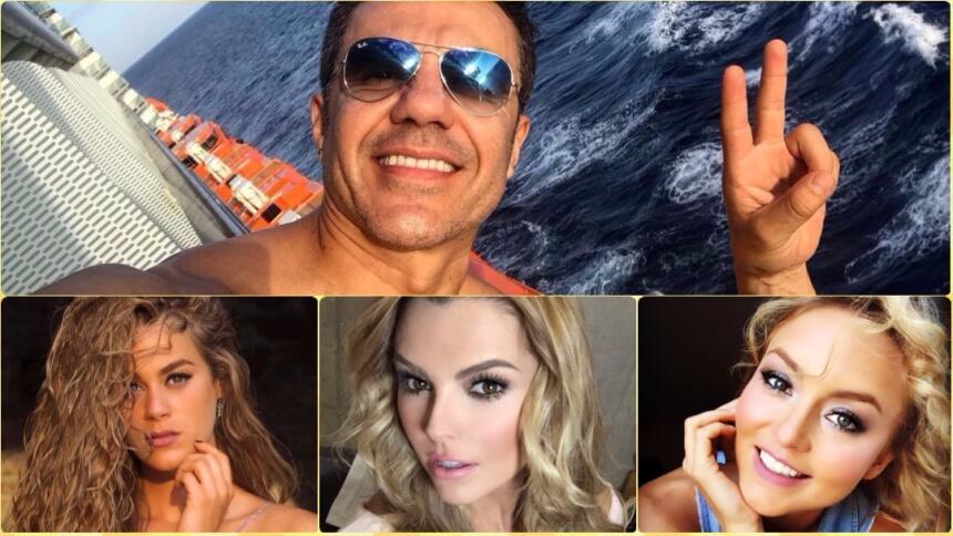 Adrián Uribe es todo un casanova, ellas han sido sus guapas novias